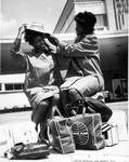 Edith McGuire and Wyomia Tyus Preparing to Travel to the 1964 Olympic Games in Toyko by Tennessee State University