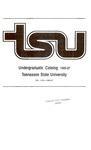 Undergraduate Catalogue 1985-1987
