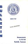 Undergraduate Catalogue 1967-1968