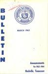 Undergraduate Catalogue 1963-1964