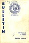 Undergraduate Catalogue 1958-1959