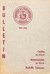Undergraduate Catalogue 1954-1955